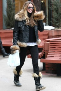Mandatory Credit: Photo by BDG / Rex Features (1265846a) Elle MacPherson Elle Macpherson out and about in Aspen, Colorado, America - 23 Dec 2010