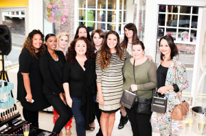 The launch - Lynette, Shine! editor Collette and the LP Artistry team