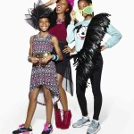 Singer and TV personality Jamelia with her daughters Teja 14 and Tiani 11