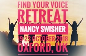 Book NOW!! 'Find Your Voice' Retreat 2018 with Nancy Swisher - Oxford - 19-23 October - click below